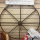 Metal cart wheel from ARD Heritage in Quarry Bank near Merry Hill Dudley West Midlands
