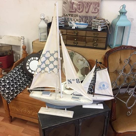 Decorative boats from ARD Heritage in Quarry Bank near Merry Hill Dudley West Midlands