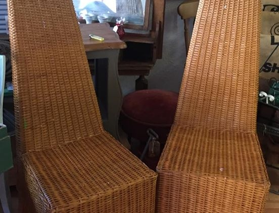 High back wicker chairs from ARD Heritage in Quarry Bank near Merry Hill Dudley West Midlands